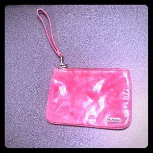 Pink express wristlet
